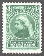 Newfoundland Scott 61 Mint F