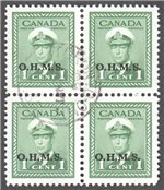 Canada Scott O1 Used VF Block