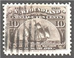 Newfoundland Scott 68 Used VF