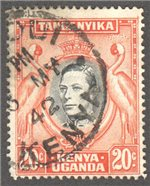 Kenya, Uganda and Tanganyika Scott 74d Used