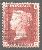 Great Britain Scott 33 Used Plate 97 - BC