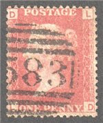 Great Britain Scott 33 Used Plate 76 - LD