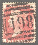 Great Britain Scott 33 Used Plate 127 - LC