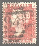 Great Britain Scott 33 Used Plate 146 - AJ