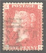 Great Britain Scott 33 Used Plate 129 - LE