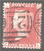 Great Britain Scott 33 Used Plate 150 - CL