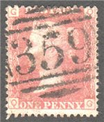 Great Britain Scott 33 Used Plate 78 - QG