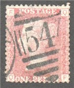 Great Britain Scott 33 Used Plate 197 - QF
