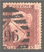 Great Britain Scott 33 Used Plate 123 - DD