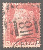 Great Britain Scott 33 Used Plate 145 - NK