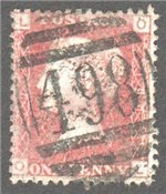 Great Britain Scott 33 Used Plate 190 - OL