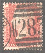 Great Britain Scott 33 Used Plate 191 - SH