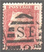 Great Britain Scott 33 Used Plate 197 - AA
