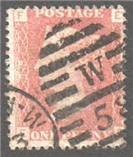 Great Britain Scott 33 Used Plate 198 - EF