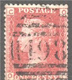 Great Britain Scott 33 Used Plate 79 - OC