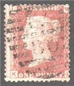 Great Britain Scott 33 Used Plate 94 - KL
