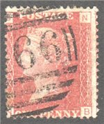 Great Britain Scott 33 Used Plate 114 - BN