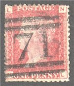 Great Britain Scott 33 Used Plate 119 - NL