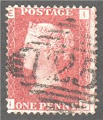Great Britain Scott 33 Used Plate 129 - IE