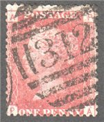 Great Britain Scott 33 Used Plate 134 - PA