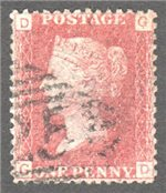 Great Britain Scott 33 Used Plate 137 - GD