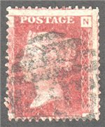 Great Britain Scott 33 Used Plate 146 - NA