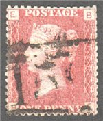 Great Britain Scott 33 Used Plate 148 - BE