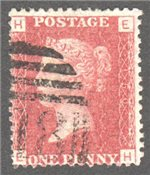 Great Britain Scott 33 Used Plate 150 - EH