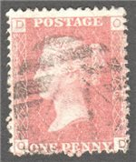 Great Britain Scott 33 Used Plate 176 - OD