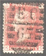 Great Britain Scott 33 Used Plate 198 - KG