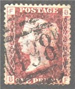 Great Britain Scott 33 Used Plate 204 - BF
