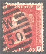 Great Britain Scott 33 Used Plate 217 - MF