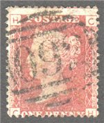 Great Britain Scott 33 Used Plate 106 - CH