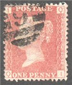 Great Britain Scott 33 Used Plate 206 - QI