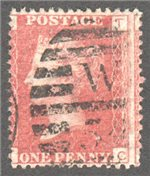 Great Britain Scott 33 Used Plate 206 - TC