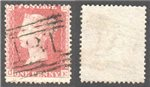 Great Britain Scott 20 Used Plate 60 - QE (P)