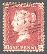 Great Britain Scott 20 Used Plate 58 - HL