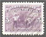 Newfoundland Scott 65 Used VF