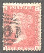Great Britain Scott 33 Used Plate 79 - OB