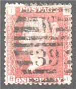 Great Britain Scott 33 Used Plate 100 - BI