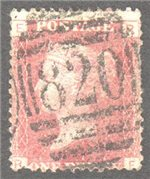 Great Britain Scott 33 Used Plate 149 - RE