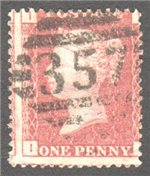 Great Britain Scott 33 Used Plate 167 - II