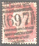 Great Britain Scott 33 Used Plate 167 - HJ