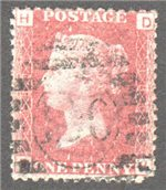 Great Britain Scott 33 Used Plate 183 - DH