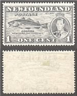 Newfoundland Scott 233var Mint VF (P14.1) (P)
