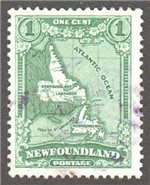 Newfoundland Scott 172 Used VF (P13.5x13.5)