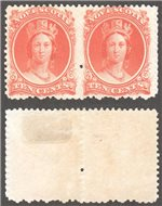 Nova Scotia Scott 12 Mint VF Pair (P)