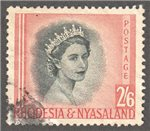 Rhodesia and Nyasaland Scott 152 Used