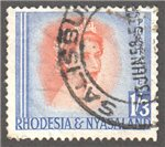 Rhodesia and Nyasaland Scott 150 Used