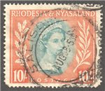 Rhodesia and Nyasaland Scott 154 Used